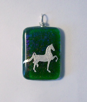 Three-Gaited Saddlebred pendant