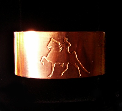 Copper Five-Gaited Saddlebred Cuff