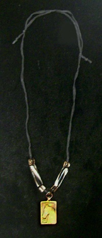 Copper Pendant with Furnace beads