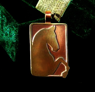 Copper and Nu-Gold Saddlebred Pendant