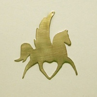Horse Angel in Nu-Gold