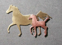 Mere and Foal pendant